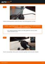 Kuinka vaihtaa pyyhkijänsulat taakse VW Transporter T4-autoon – vaihto-ohje