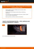 Kuinka vaihtaa raitisilmasuodatin Opel Zafira B A05-autoon – vaihto-ohje