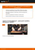 Kuinka vaihtaa pyyhkijänsulat eteen Audi A4 B7-autoon – vaihto-ohje