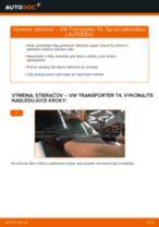 Ako vymeniť a regulovať Stieracia liżta VW TRANSPORTER: sprievodca pdf