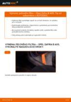 Ako vymeniť filter vnútorného priestoru na Opel Zafira B A05 – návod na výmenu