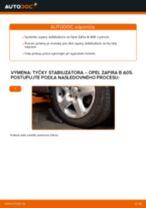OPEL Vzpera stabilizátora predné vľavo vymeniť vlastnými rukami - online návody pdf