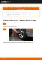 Ako vymeniť predné spodné rameno na Audi A4 B7 – návod na výmenu