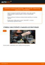 Montáž Brzdové doštičky AUDI A4 (8EC, B7) - krok za krokom príručky