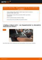 Jak vyměnit přední a zadní List stěrače VW TRANSPORTER IV Bus (70XB, 70XC, 7DB, 7DW) - manuály online