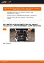 Οι συστάσεις του μηχανικού αυτοκινήτου για την αντικατάσταση PEUGEOT PEUGEOT 207 (WA_, WC_) 1.6 HDi Τακάκια Φρένων