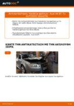 Τοποθέτησης Τακάκια Φρένων AUDI A4 (8EC, B7) - βήμα - βήμα εγχειρίδια