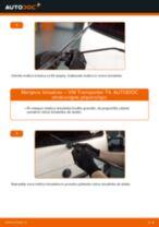 Zamenjavo Metlica brisalnika stekel VW TRANSPORTER: navodila za uporabo