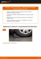 Kako zamenjati avtodel ležaj amortizerja spredaj na avtu BMW E90 – vodnik menjave