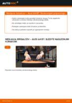 Kako zamenjati avtodel brisalce spredaj na avtu Audi A4 B7 – vodnik menjave