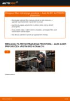 Kako zamenjati avtodel filter notranjega prostora na avtu Audi A4 B7 – vodnik menjave