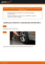 Kako zamenjati avtodel sprednja spodnja roka na avtu Audi A4 B7 – vodnik menjave