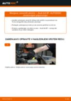 Zamenjavo Zavorne Ploščice AUDI A4: navodila za uporabo