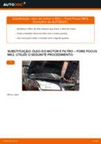 Como mudar óleo do motor e filtro em Ford Focus MK2 gasolina - guia de substituição