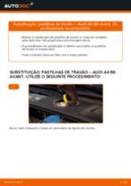 Como mudar pastilhas de travão da parte dianteira em Audi A4 B6 Avant - guia de substituição