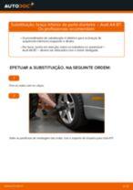 Como mudar braço inferior da parte dianteira em Audi A4 B7 - guia de substituição