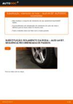 Como mudar rolamento da roda da parte dianteira em Audi A4 B7 - guia de substituição