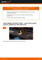 Samm-sammuline PDF-juhend Volvo v50 mw Õõtshoob asendamise kohta