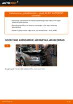 Paigaldus Piduriklotsid AUDI A4 (8EC, B7) - samm-sammuline käsiraamatute