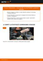 Hogyan cseréljünk Stabilizátor gumi BMW G01 - kézikönyv online