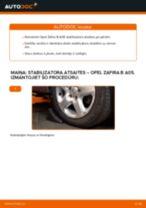 OPEL ZAFIRA Savienotājstienis maiņa: bezmaksas pdf