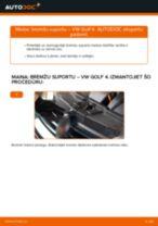 Kā nomainīt un noregulēt Bremžu suports VW GOLF: pdf ceļvedis