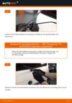 hinten + vorne Scheibenwischer VW Transporter IV Bus (70B, 70C, 7DB, 7DK, 70J, 70K, 7DC, 7DJ) | PDF Wechsel Tutorial