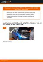 Wie Peugeot 206 CC 2D Motoröl und Ölfilter wechseln - Anleitung