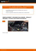 Notre guide PDF gratuit vous aidera à résoudre vos problèmes de RENAULT RENAULT MEGANE II Saloon (LM0/1_) 1.9 dCi Bras de Suspension