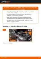Kaip pakeisti ir sureguliuoti Oro filtras, keleivio vieta BMW 3 SERIES: pdf pamokomis