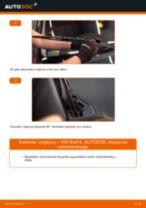 Gofruotoji Membrana Vairavimas keitimas: pdf instrukcijos VW GOLF