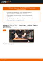 Kaip pakeisti Audi A4 B7 valytuvų: priekis - keitimo instrukcija