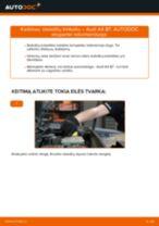 Montavimo Stabdžių Kaladėlės AUDI A4 (8EC, B7) - žingsnis po žingsnio instrukcijos