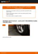 Kaip pakeisti Audi A4 B7 rato guolio: priekis - keitimo instrukcija