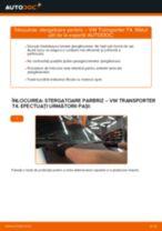 Montare Lamela stergator VW TRANSPORTER IV Bus (70XB, 70XC, 7DB, 7DW) - tutoriale pas cu pas