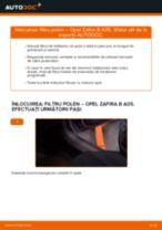 Cum să schimbați: filtru polen la Opel Zafira B A05 | Ghid de înlocuire