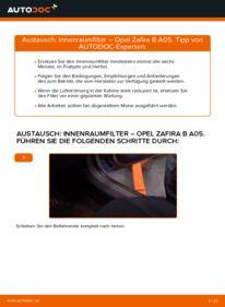 Wie der Wechsel durchführt wird: Innenraumfilter 1.9 CDTI (M75) Opel Zafira B tauschen