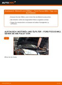 Wie der Wechsel durchführt wird: Ölfilter 1.6 TDCi Ford Focus mk2 Limousine tauschen