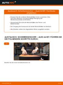 Wie der Wechsel durchführt wird: Scheibenwischer 2.0 TDI 16V Audi A4 B7 Limousine tauschen