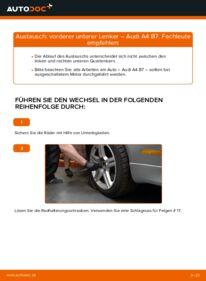 Wie der Wechsel durchführt wird: Querlenker 2.0 TDI 16V Audi A4 B7 Limousine tauschen