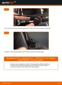 Comment effectuer un remplacement de Essuie-Glaces sur 1.4 16V VW Golf IV
