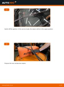 How to carry out replacement: Wiper Blades on 1.9 TDI Octavia 1z5