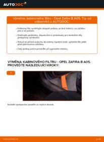 Jak provést výměnu: Kabinovy filtr na 1.9 CDTI (M75) Opel Zafira B