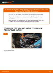 Wie der Wechsel durchführt wird: Ölfilter 1.3 Hybrid (ZE28, ZE2) Honda Insight ZE2/ZE3 tauschen