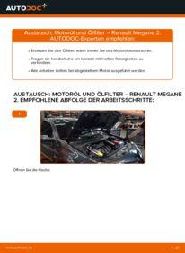 Wie der Wechsel durchführt wird: Ölfilter 1.6 RENAULT MEGANE II Saloon (LM0/1_) tauschen