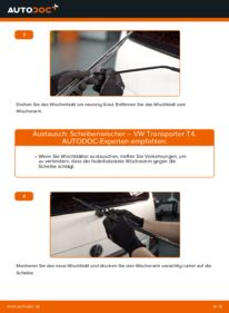 Wie der Wechsel durchführt wird: Scheibenwischer 2.5 TDI T4 Transporter tauschen