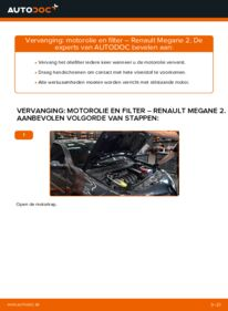 Vervangen: Oliefilter RENAULT MEGANE