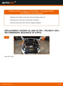 How to carry out replacement: Oil Filter on 1.6 HDi Peugeot 308 I