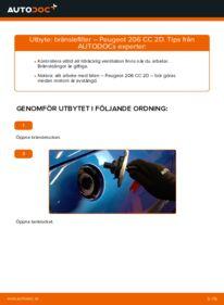 Så byter du Bränslefilter på 1.6 16V Peugeot 206 cc 2d