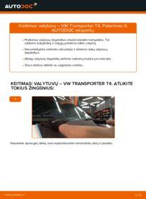 Kaip atlikti keitimą: 2.5 TDI VW T4 Transporter Valytuvo gumelė